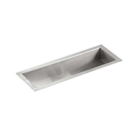 shop kohler undertone 8 25 in x 22 in single basin
