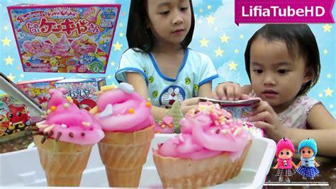 youtube membuat es krim mainan es krim mainan jepang kracie popin cookin ice cream