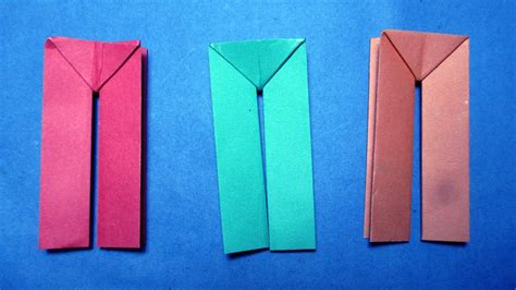 How To Make Origami Trousers - origami how to make paper dress origami paper