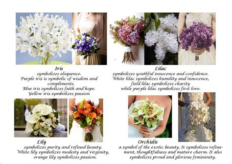 Wedding Bouquet Meaning by Wedding Flowers Meanings Wedding Flowers