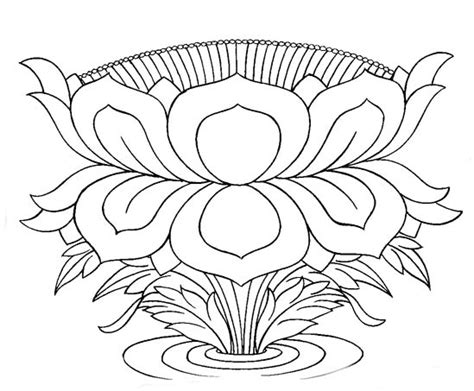 buddhist artwork line lotus symbol 1