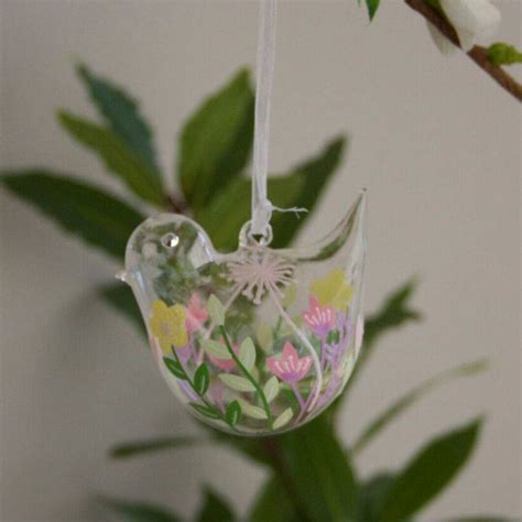 Glass Bird Tree Decorations by Set Of Two Glass Bird Tree Decorations By Ella
