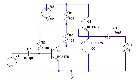 transistor lifier forum this circuit was found on an electronics forum where the person wanted to reduce the distortion