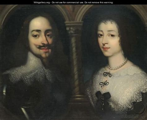 portraits of king charles i and henrietta
