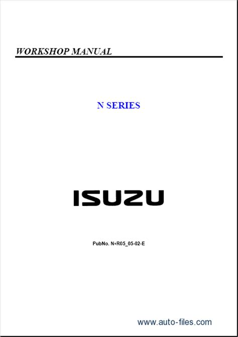 online car repair manuals free 2007 isuzu i 290 seat position control isuzu elf n series repair manuals download wiring diagram electronic parts catalog epc