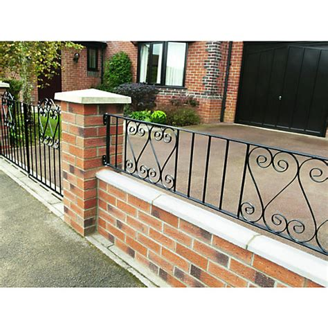 garden wall railings wickes chelsea wall railing 365 x 1830mm wickes co uk