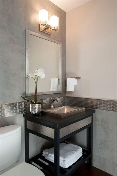 powder room sink bathroom traditional  apothecary jars