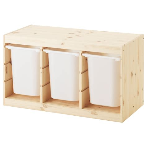 Baby Box Ikea trofast storage combination with boxes light white stained