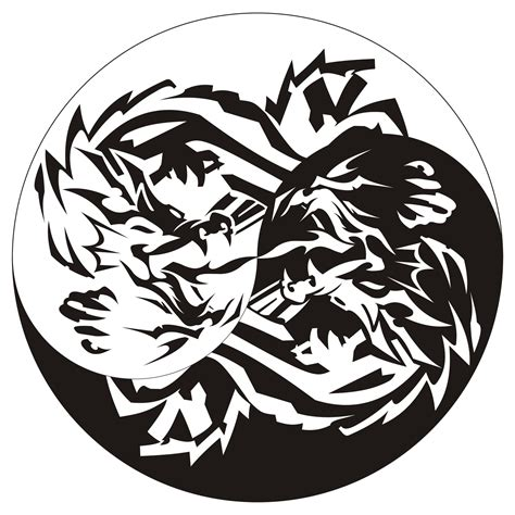 yin yan dragon tattoo by johnniihansen on deviantart
