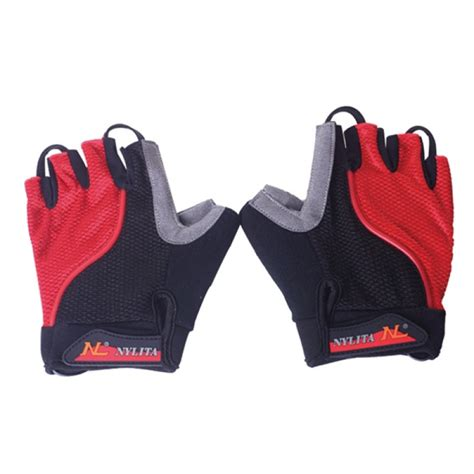 Cycling Half Finger Glove buy bicycle bike cycling gloves led lighting half finger