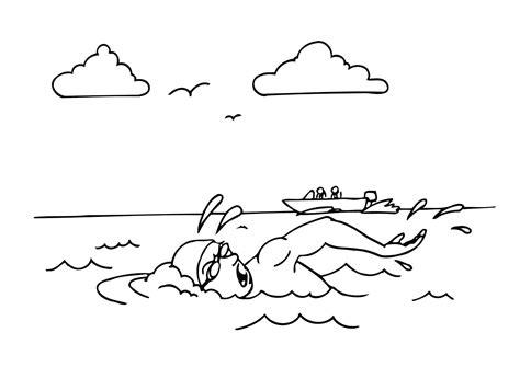 imagenes de niños nadando para colorear dibujo para colorear nadar img 12161