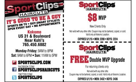 haircut coupons sport clips sportclips haircuts coupon kokomo hair salon health