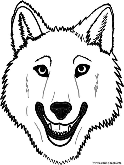 wolf face coloring page az coloring pages