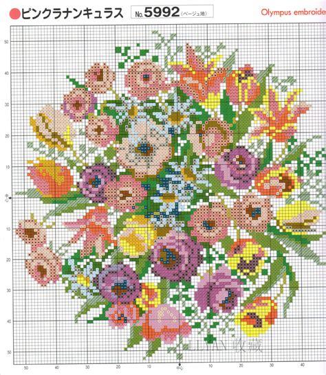 cuscini punto croce schemi schema punto croce cuscino fiori 49