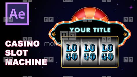 Casino Slot Machine Las Vegas After Effects Logo Template After Effects Template Royalty After Effects Slot Machine Template