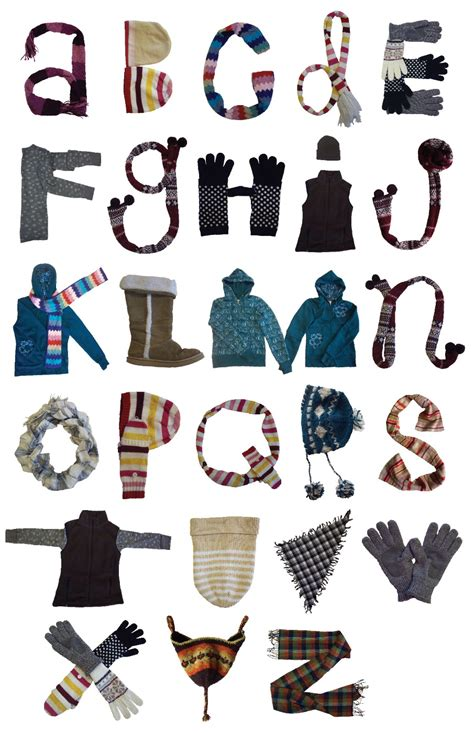 winter wear alphabet diana bales