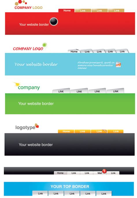 download design header footer website header template vector free vector 4vector