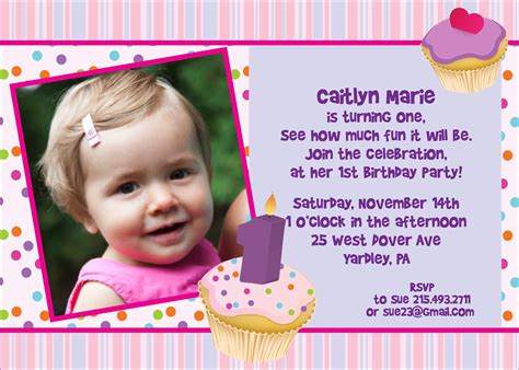1st Birthday Invitation Card Template Free by 1st Birthday Invitation Cards Templates Free Yspages