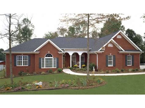 ranch style house plans with garage brick vector picture brick ranch house plans