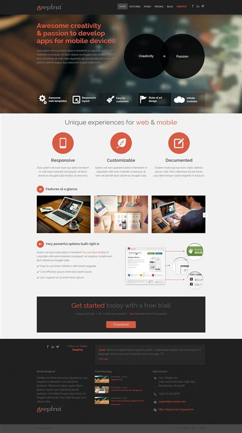 wordpress theme free download with slider 2014 grepfrut a premium technology wordpress theme free