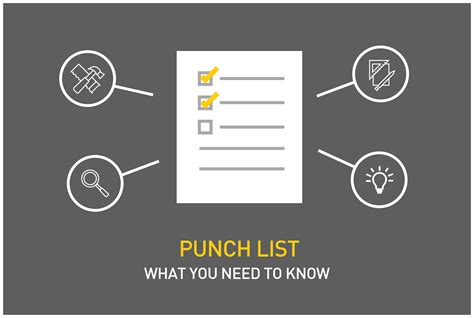 punch list punch list exles free task and checklist templates