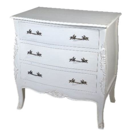 Vintage White Chest Of Drawers by Antique White 3 Drawer Chest Shabby Chic Chest Of Drawer Coco54