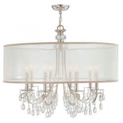 Drum Chandelier Shade Hton 8 Light 32 Quot Polished Chrome Chandelier With Silver Drum Shade Thelightingoutlet