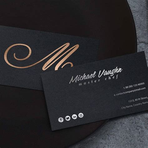 Matte Black Business Card Template by Luxury Business Cards Paper Images Card Design And Card