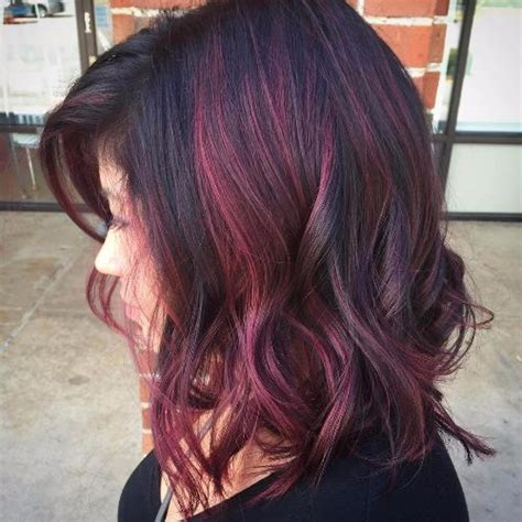 purple shoo for purple highlights red hair purple highlights hairs picture gallery