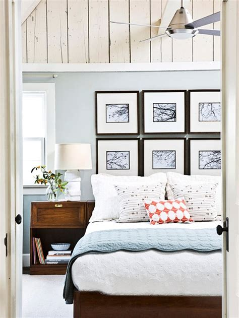 master bedroom art above bed bhg centsational style