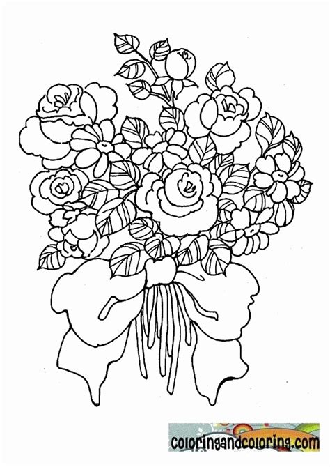 coloring pages of a bouquet of roses wedding bouquet coloring pages coloring home
