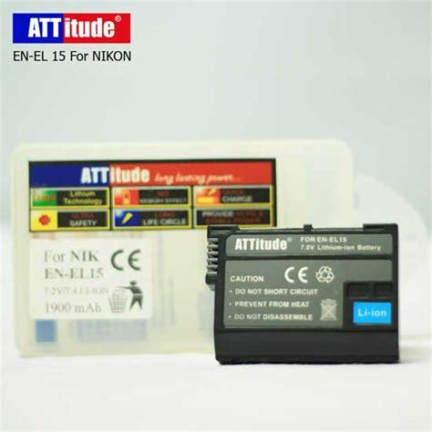 Att Nikon En El15 harga baterai en el15 untuk kamera nikon d7000 d7100