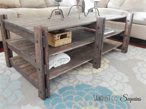 Rustic Coffee Table Buildsomething Com How To Make A Rustic Coffee Table