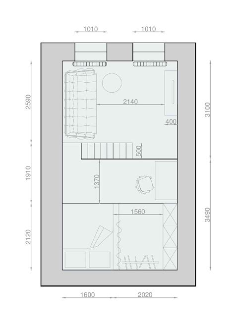 square metres 2 apartments under 30 square metre one light one dark