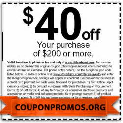 Office Depot Coupons Free Printable Office Depot Coupon December 2016