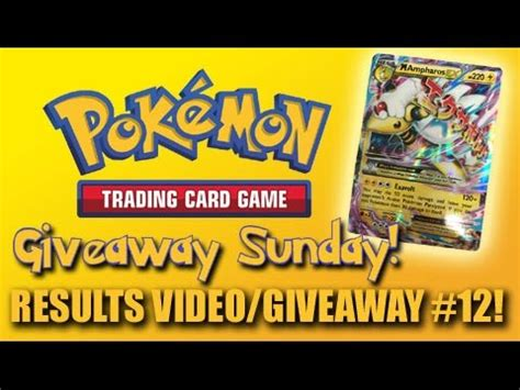 Pokemon Game Giveaway - pokemon trading card game giveaway sunday results video new giveaway 12 youtube