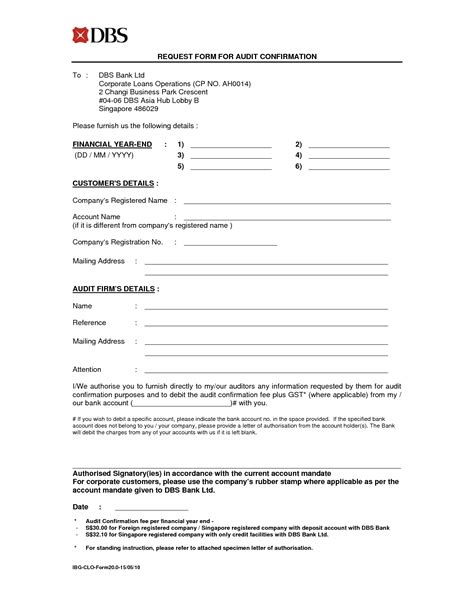 audit confirmation letter template
