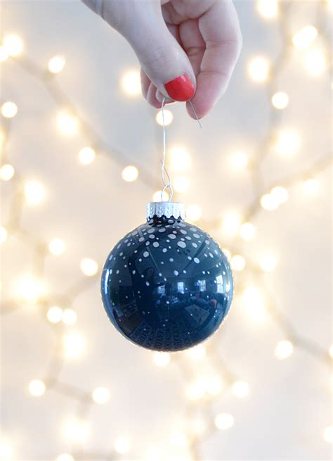 glass ornaments fast and easy diy painted glass ornament