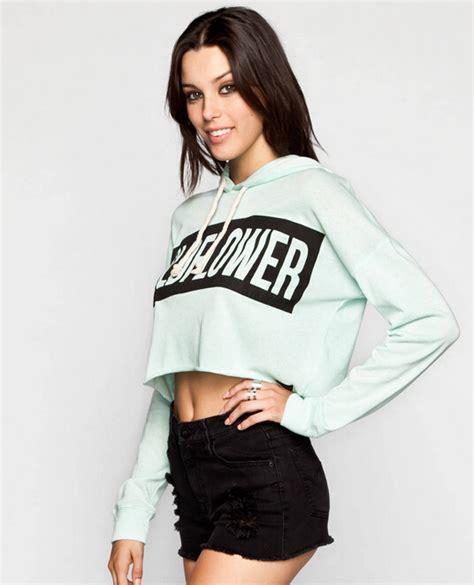 So Crop Hoodie Jaket custom crop hoodies terry cropped top hoodie plain crop tops wholesale buy crop tops
