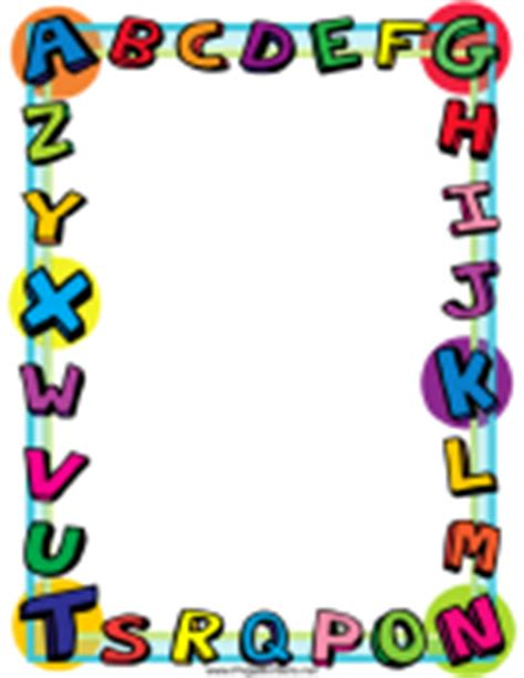Parent Letter Border Printable Page Borders 171 Free A Day