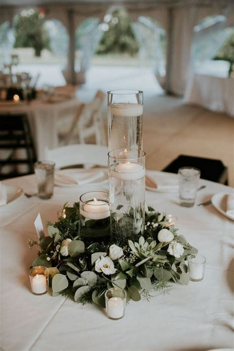 elegant wedding centerpieces  candles