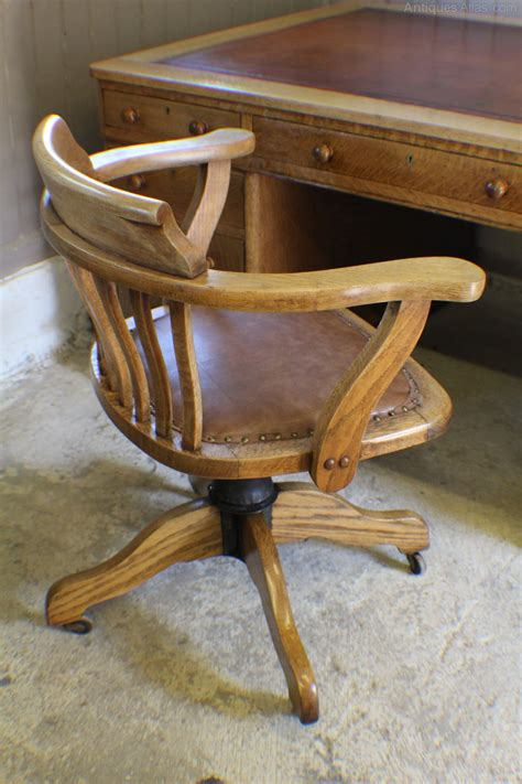 oak swivel desk chair antique oak desk chair hostgarcia