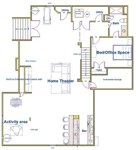 design your own basement floor plans 22 best images about basement finishing university on