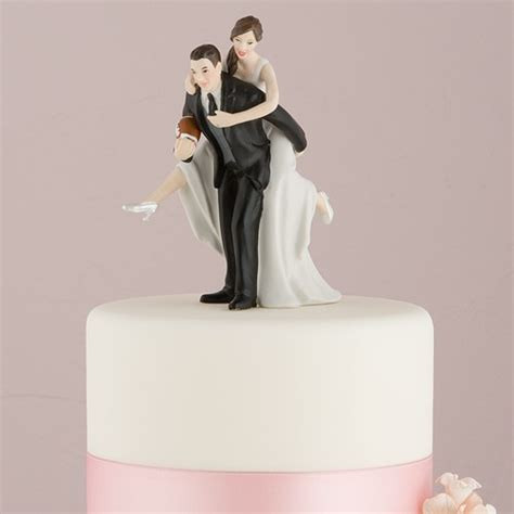 Asian Wedding Home Decorations by Football Bride And Groom Cake Topper The Knot Shop
