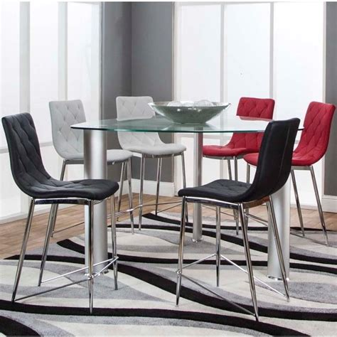 Triangle Dining Table Set Cramco Inc Turbo 54 Quot Triangle Glass Top Counter Height Dining Table And Stool Set Value City