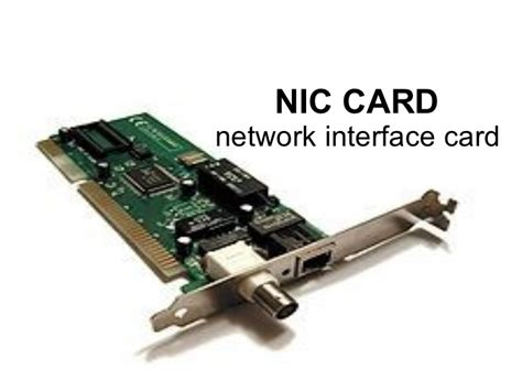 Images Of Network Interface Card nic card presentation by asp