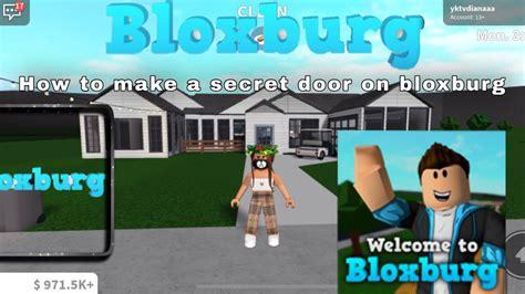 build  secret door  bloxburg cool trick youtube