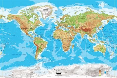 physical map of earth world map political and physical learning geology
