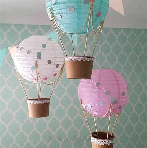 Whimsical hot air balloon decoration diy kit nursery decor travel theme baby shower hot
