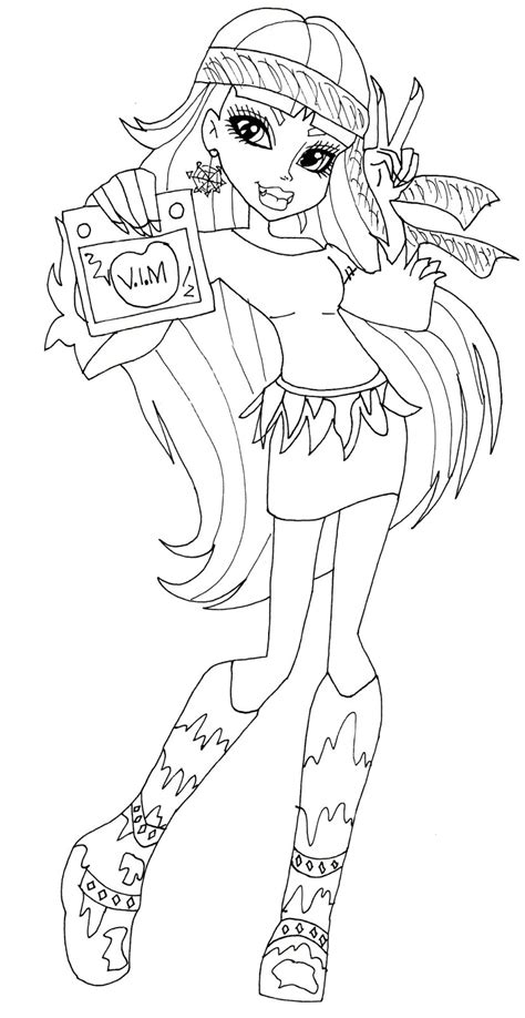 monster high coloring pages baby abbey bominable free printable monster high coloring pages abbey